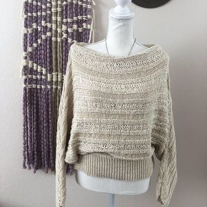 Leith Open Knit Sweater Size S